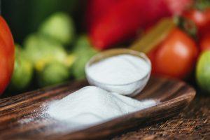 Collagen Protein Supplement Powder and Vegetables