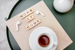 Work at home concept